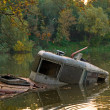 Stock Photo: Wreck on Vistulriver