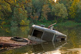 Wreck on Vistula river — Stock Photo