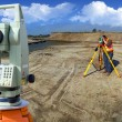 Theodolite survey outdoors — Stock Photo #4280732