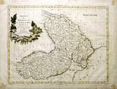 Old map of Moldavia and Vallachia 1700 — Stock Photo