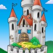 Stock Photo: Tall castle with fortification