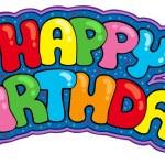 Happy birthday sign — Stock Vector