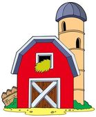 Barn with granary — Stock Vector