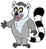 Cartoon lemur — Stock Vector