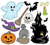 Set of Halloween images — Stock Vector