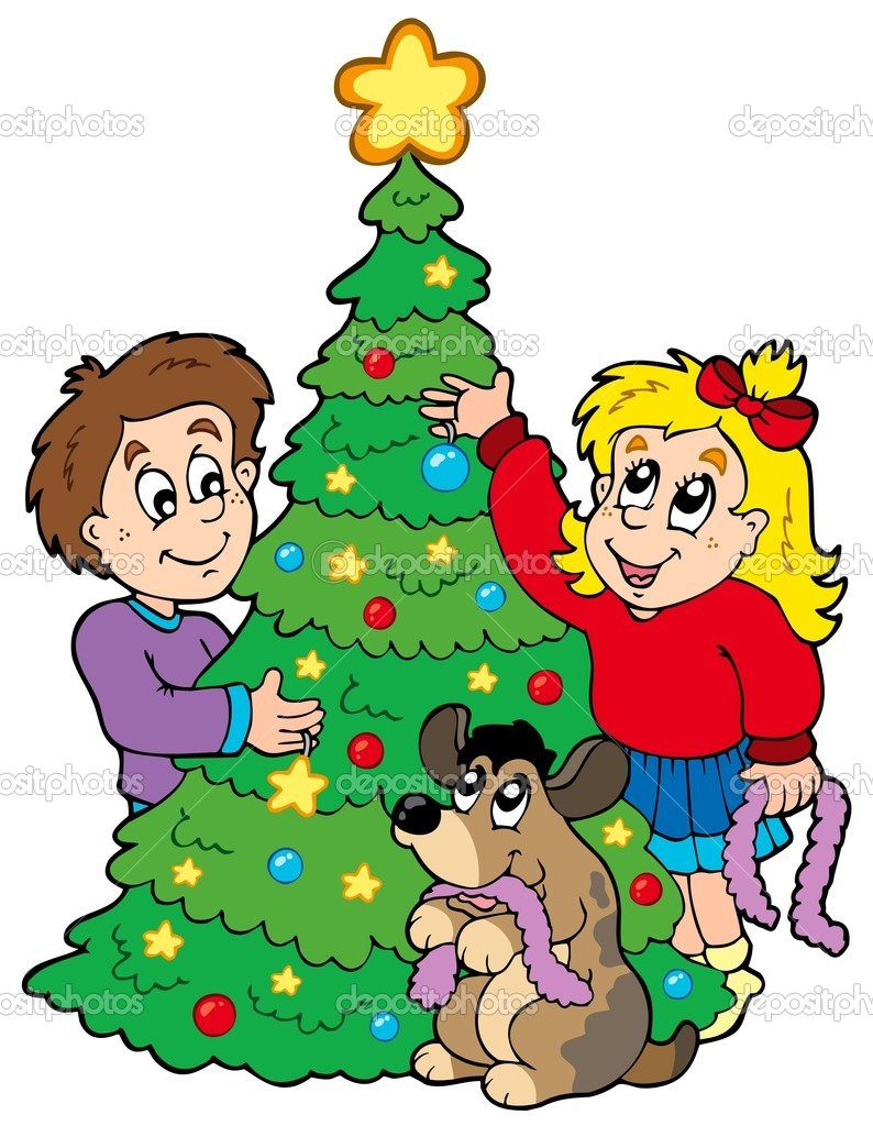 Download image kids decorating christmas tree clip art pc android