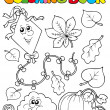 Coloring book with autumn theme 1 - ベクター素材ストック
