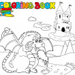Royalty-Free Stock Vector Image: Coloring book with big dragon 1