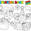 Coloring book with Christmas theme — Stock Vector