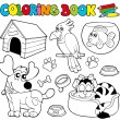 Coloring book with pets 1 — Stock Vector #4137614