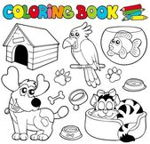 Coloring book with pets 1 — Stock Vector