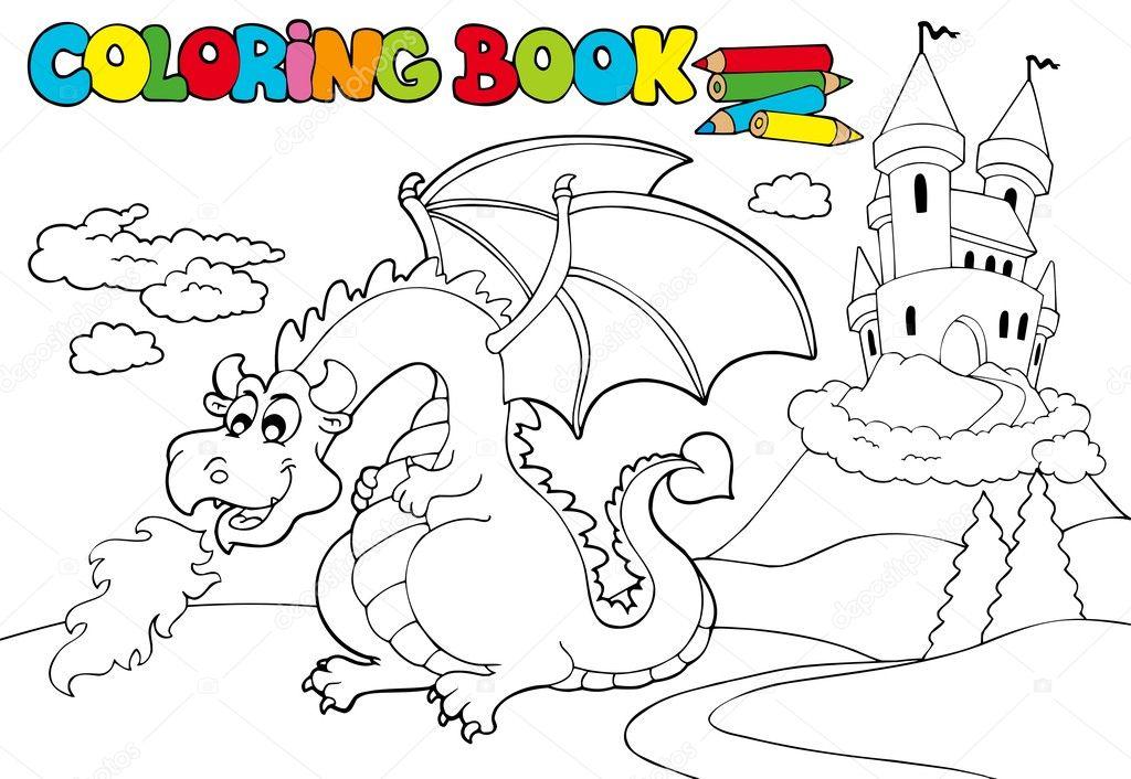 Раскраска с дракончиком