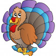 Stock Vector: Happy cartoon turkey