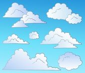 Cartoon clouds collection — Stock Vector