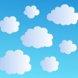 Cartoon clouds collection 3 — Stock Vector