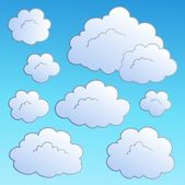 Cartoon clouds collection 2 — Stock Vector