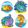 Various freshwater fishes 1 — Stock Vector #4285215