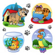 Various pets images 1 — Stock Vector