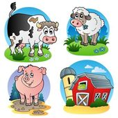 Various farm animals 1 — Stock Vector