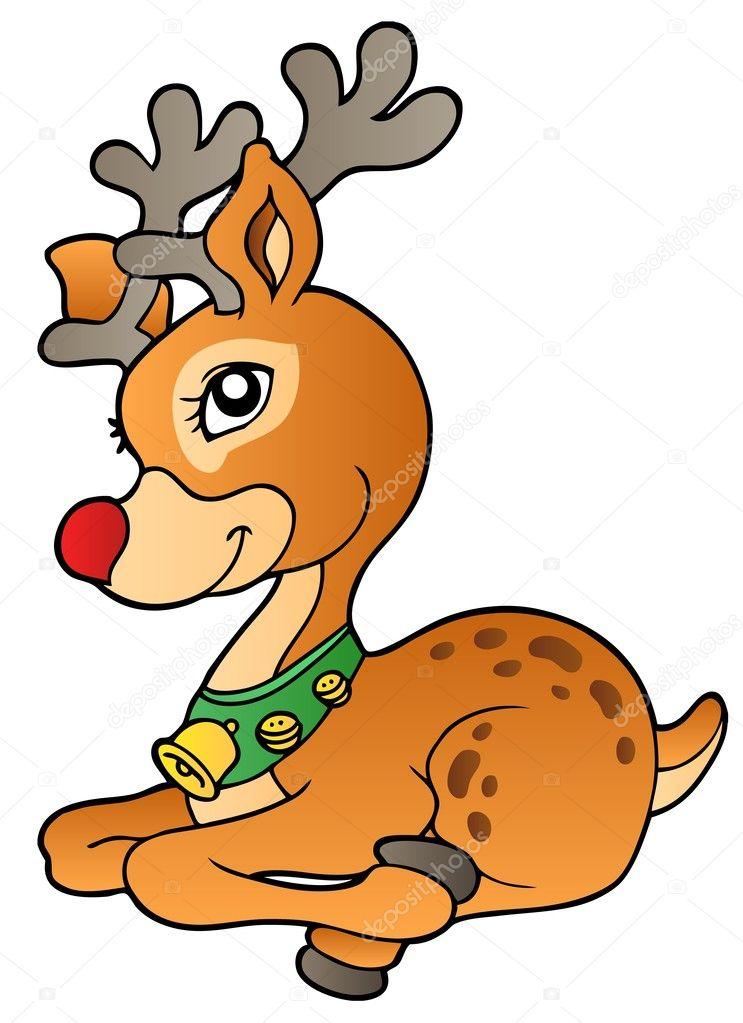 年轻圣诞驯鹿 1 — 图库矢量图像08