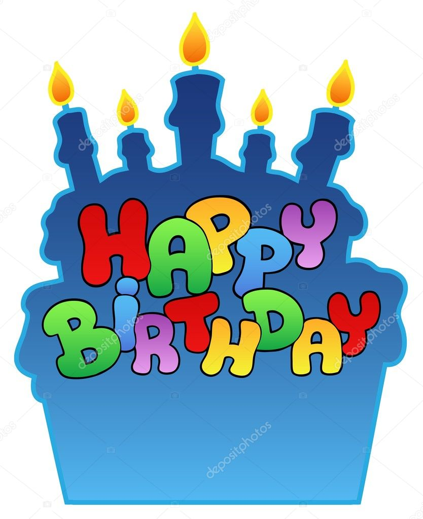 Happy birthday theme 3 - vector illustration. — Stock Vector #4374695