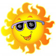 Happy Sun with sunglasses - Stock Vector