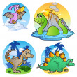 Various dinosaur images 1 — Stock Vector