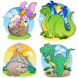 Various dinosaur images 2 — Vector de stock #4444386