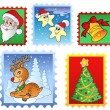 Various Christmas post stamps 1 — Stock Vector #4444387