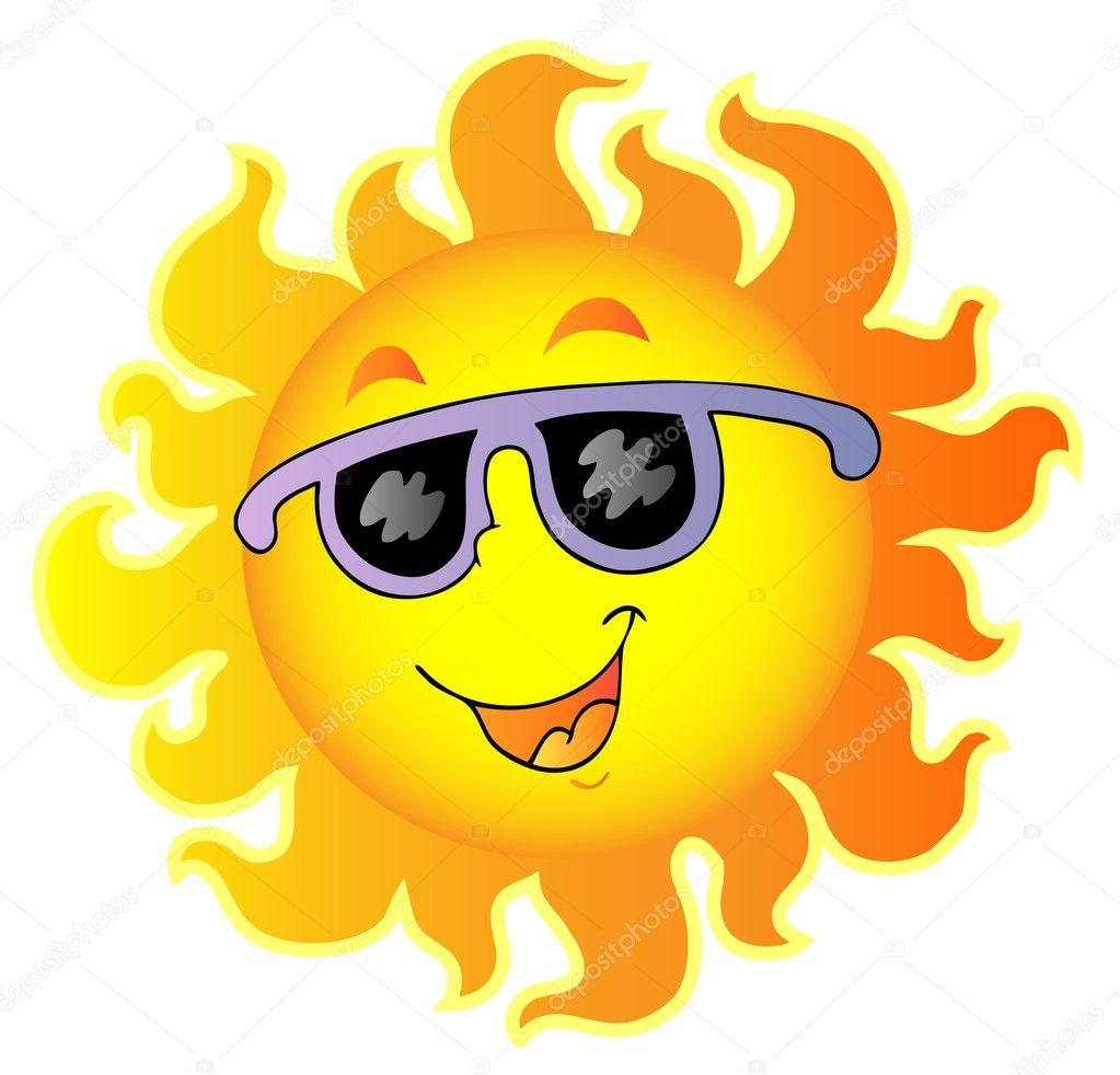 Happy Sun with sunglasses — Stock Vector © clairev #4444361