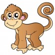 Cute small monkey — Stock Vector