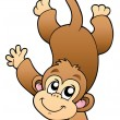 Funny cute monkey - Stock Vector