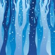 Winter forest with snow - Stock Vector