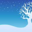 Stock Vector: Winter tree with snow 1
