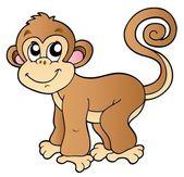 Cute small monkey — Stock Vector