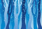 Winter forest with snow — Stock Vector
