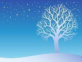 Winter tree with snow 3 — Stock Vector