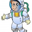 Cartoon astronaut - Stock Vector