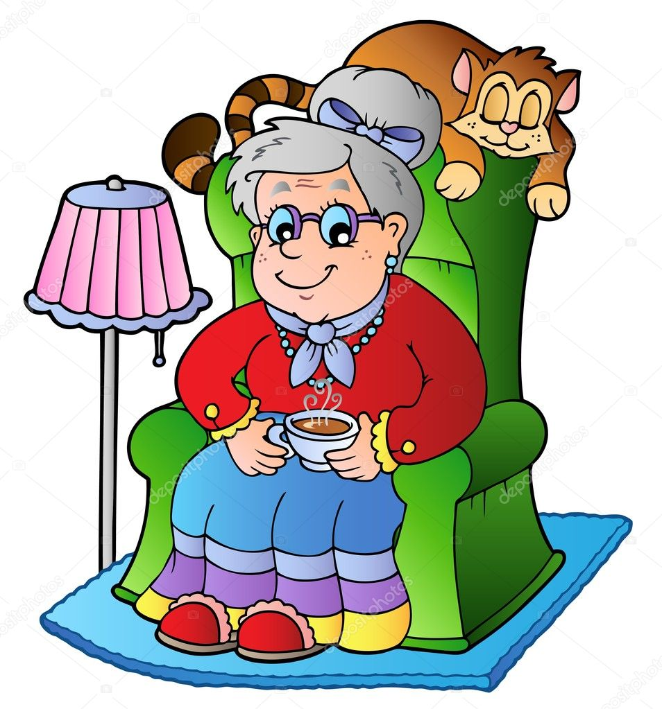 sentado en el sill u00f3n de la abuela dibujos animados grandma clipart glasses grandma clip art quotes