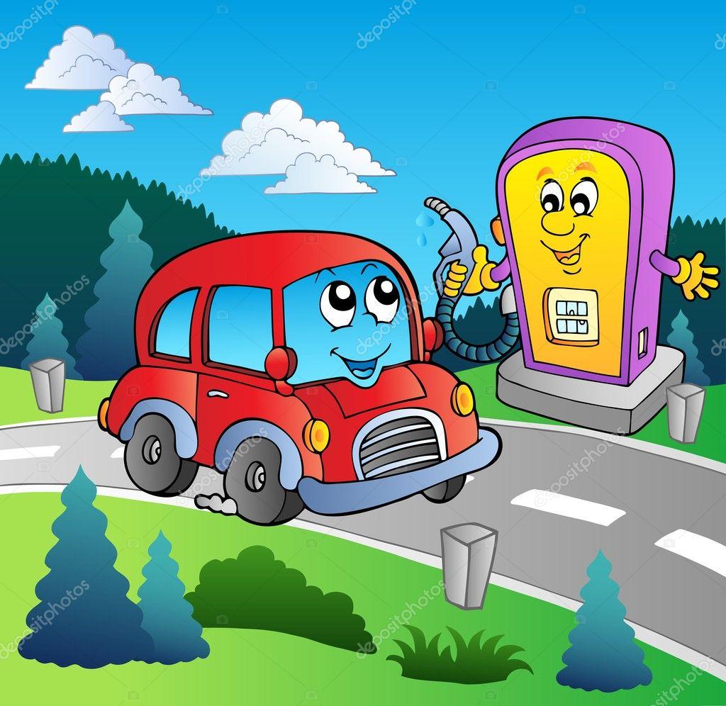 Нарисовать автозаправку