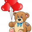 Royalty-Free Stock Vector Image: Cute teddy bear with balloons