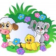 Group of spring animals — Vector de stock #4915622