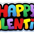 Happy Valentine cartoon sign — Stock vektor