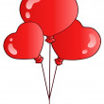 Valentine balloons — Stock Vector