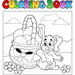 Coloring book with Easter theme 2 — Stock Vector #5065049