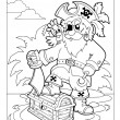 Royalty-Free Stock Vector Image: Coloring book with pirate scene 1