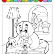 Royalty-Free Stock Vector Image: Coloring book with teddy bear 2