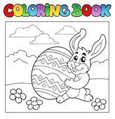 книжка-раскраска с пасхи тема 1 — Cтоковый вектор