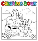Coloring book with Easter theme 2 — Stock Vector