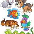 Happy pets collection 1 - Stock Vector